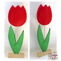 Filz Tulpe Filzblume Bild 1