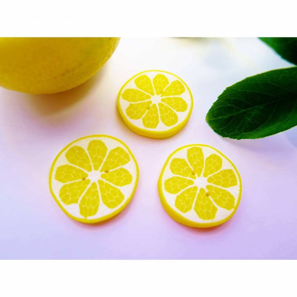 Großer Zitronenknopf Bild 1