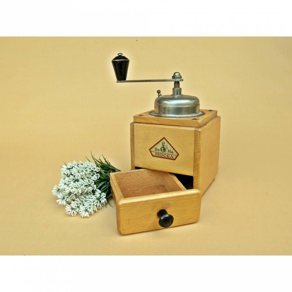 Vintage - Alte Kaffeemühle Mokkamühle BE HA manuell Mühle Schoßmühle Bild 1