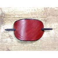 Rote Haarspange aus Leder / Lederhaarspange / Haarklammer - Handgefertigt - Ethno Boho Hippie Goa Design Bild 1