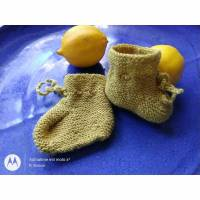 Babyschuhe gestrickt - ohne drückende Naht Bild 1