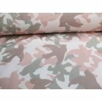 Softshell Camouflage  mit Fleece -  Abseite  grau - altrosa( 1m/14,00€ ) Bild 1