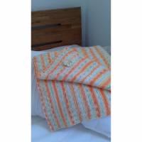 Babydecke, gestrickt, 60x65 cm  weiche schöne Wolle, hautfreundlich und speichelecht Bild 1