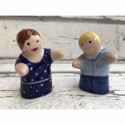 Salz &Pfefferstreuer, individuell nach euren Wünschen handbemalt, Keramik