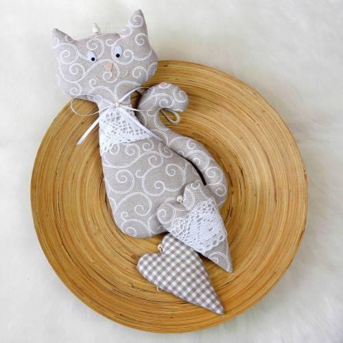 Katze & Herzen ~ Girlande   Landhaus   Geschenkidee