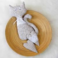 Katze & Herzen ~ Girlande   Landhaus   Geschenkidee Bild 1
