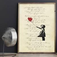 Fleeing Heart - FineArtPrint I Kunstdruck Poesie Gedicht Bild 1