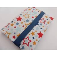 Windeltasche bunte Sterne, Windeltasche für Jungs, Windeltasche mit 5 Fächern, Reißverschlussfach, Feuchttücheröffnung, Geschenk zur Geburt,  Bild 1