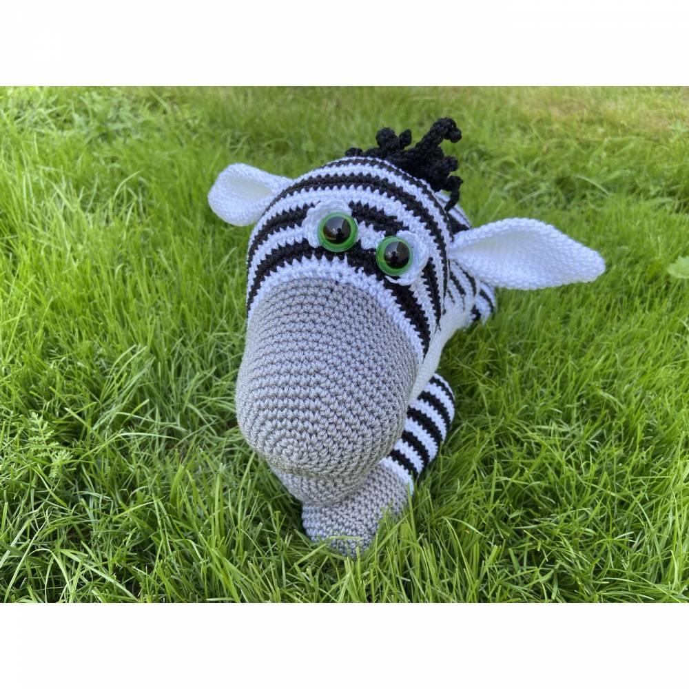 Häkelanleitung - Zino Zebra Bild 1
