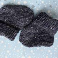 BabySöckchen - Neugeborenen-Söckchen marine Tweed Bild 1