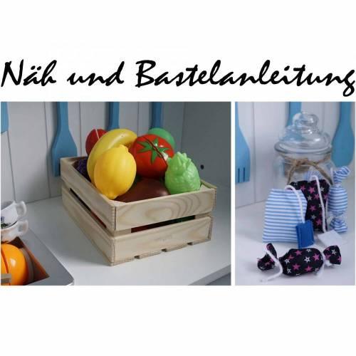 Näh & Bastelanleitung Teebeutel, Bonbon & Obstkiste für den Kaufmannsladen...