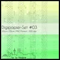 Digipapier Set #03 (gelb & grün) zum ausdrucken, plotten, scrappen, basteln und mehr Bild 1