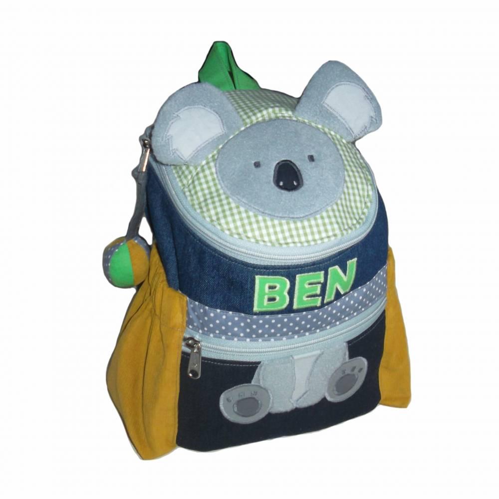 Kinderrucksack / Kindergartenrucksack Koala mit Namen Bild 1
