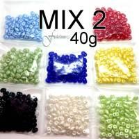 SUPER DUO | MATUBO | Zweiloch Perlen | Perlen Mix 2 | 8 x 5g Bild 1