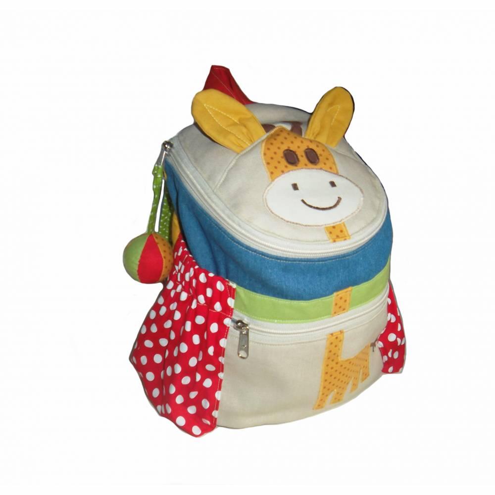Kinderrucksack / Kindergartenrucksack Giraffe (Gelb) mit Namen Bild 1
