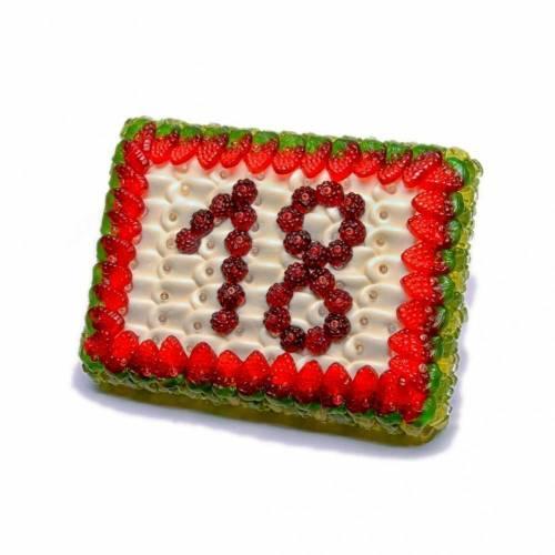 Fruchtgummi Torte mit Wunschzahl