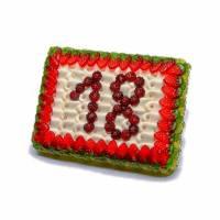Fruchtgummi Torte mit Wunschzahl Bild 1