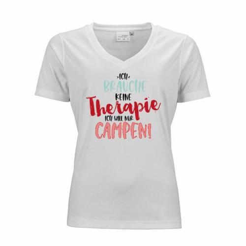 """Damen-T-Shirt """"Ich brauche keine Therapie Ich will nur campen"""""""