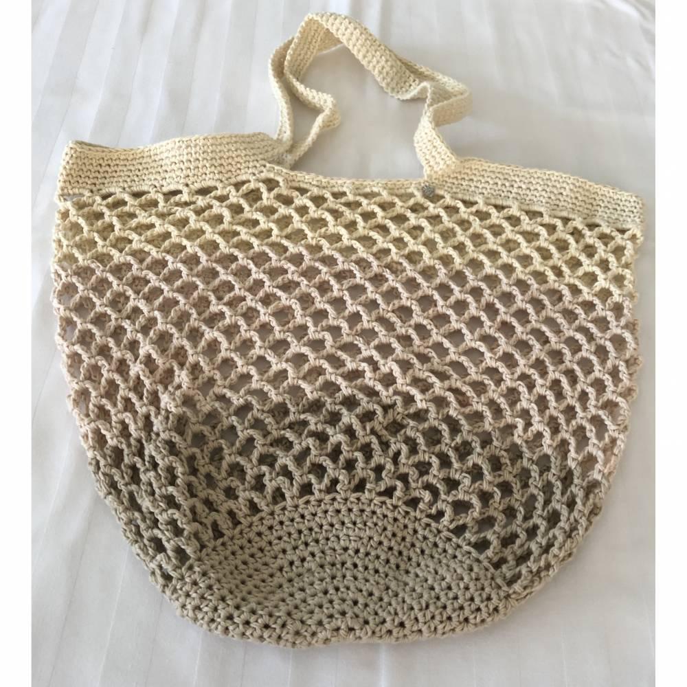Einkaufsnetz, Markttasche, Strandtasche, Gemüsebeutel wie zu Omas Zeiten  Bild 1