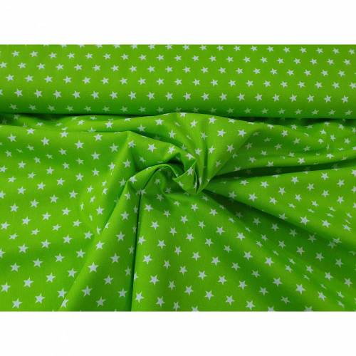 Baumwolle Minimal Daisy - Sterne - 124 lime