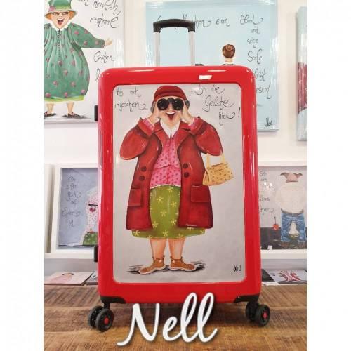"""Koffer  Rot   Motiv: """"Hab mich umgesehen....bin die Geilste hier""""    91 Liter    4,5 kg"""