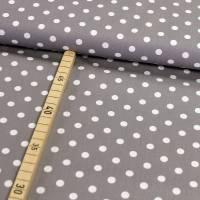 Baumwolle Punkte auf grau