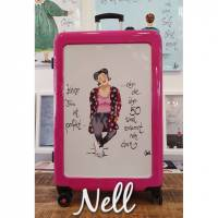 """Koffer  Pink   Motiv: """"Keine Frau ist perfekt......aber die über 50 sind verdammt nah dran""""    91 Liter    4,5 kg Bild 1"""