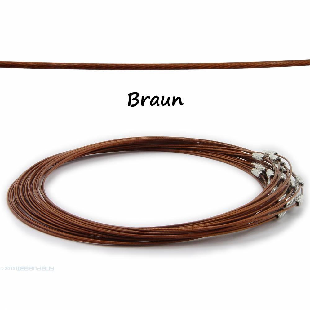 2 x Halsreif aus Stahl ** Farbe: Braun ** Schraubverschluss * Länge ca. 45 cm Bild 1