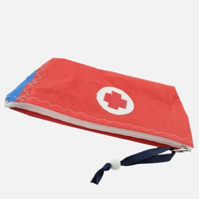 Erste-Hilfe-Täschchen aus Surfsegel, rot - blau Bild 1