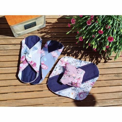 4er Set Wiederverwendbare, waschbare Stoffbinden für Alternative zero waste Monatshygiene oder bei Inkontinenz
