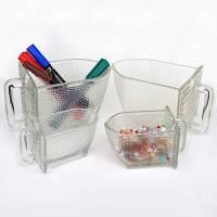 Alte Glasschütten verschiedener Hersteller in verschiedenen Größen Bild 1