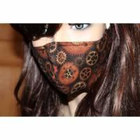 Gesichtsmaske/ MundNasenMaske/ Baumwolle/ 2-lagig/ waschbar 60 Grad/ Behelfsmaske/ Mundbedeckung/ Nasendraht * STEAMPUNK *