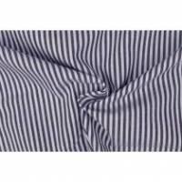 8,80 Euro/m Baumwolle Popeline,dunkelblau- weiß gestreift 3mm Bild 1