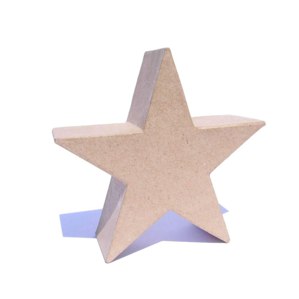Stern Silhouette stehend 15 x 15 x 5 cm Bild 1