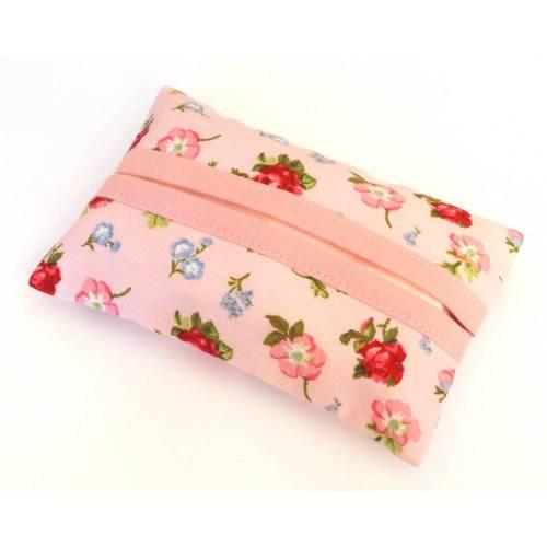 Tatüta Taschentüchertasche - rosa Blumen Rosen
