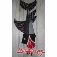 Schultüte / Zuckertüte zur Einschulung, Haifisch, schwarz-weiß mit rot, für Jungen und Mädchen zum Schulstart, Kissen ! Bild 1