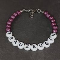 """Perlenarmband + Geschenkbox """"Möchtest du meine Trauzeugin sein?"""" personalisiert mit Namen + Grafik Bild 10"""
