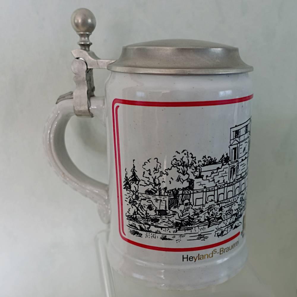 Heylands Bierkrüge mit Zinndeckel Weihnachten 1978 und 1980 Bild 1