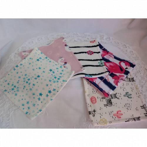 Set aus 5 Baby - Waschlappen - Wischtücher - aus Jersey - von Patchwerk