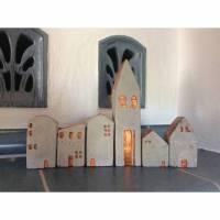 Häuserdörfchen, Häuserdorf aus Beton, Betonhäuser Bild 1