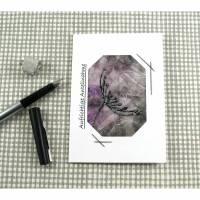 Trauerkarte DinA6 mit Umschlag Einzelstück von ZWEIFARBIG Beileidskarte Kondolenz Bild 1
