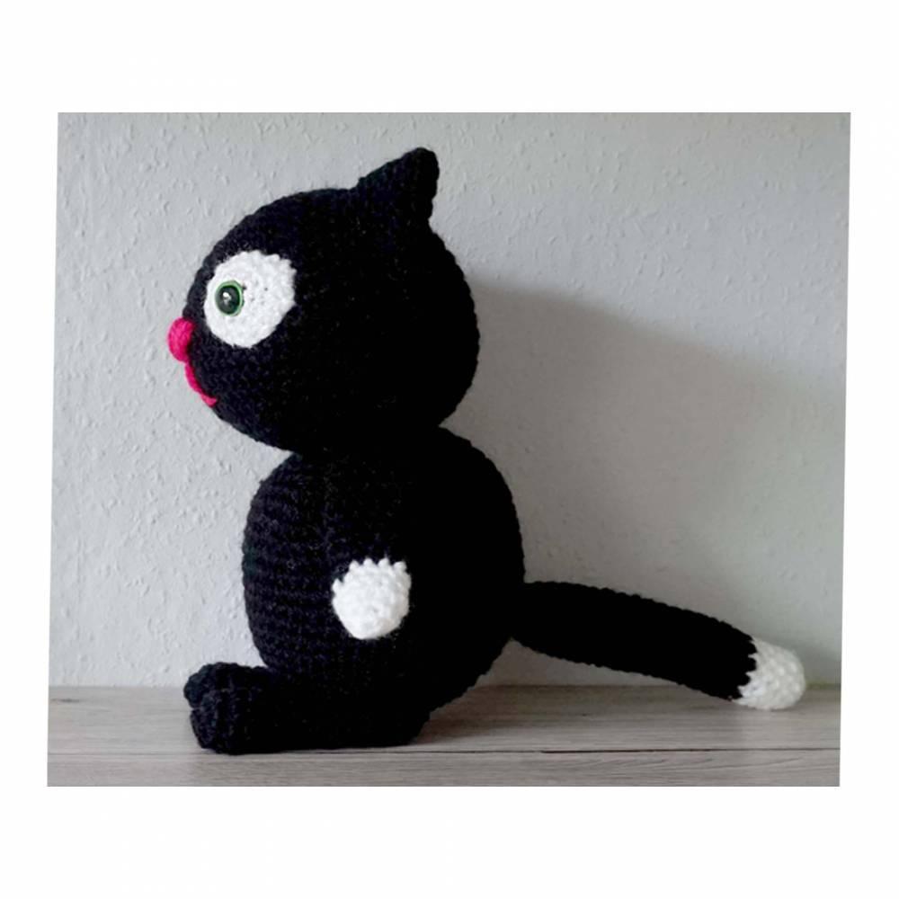 Amigurumi Häkelanleitung für die Katze Blacky  Bild 1