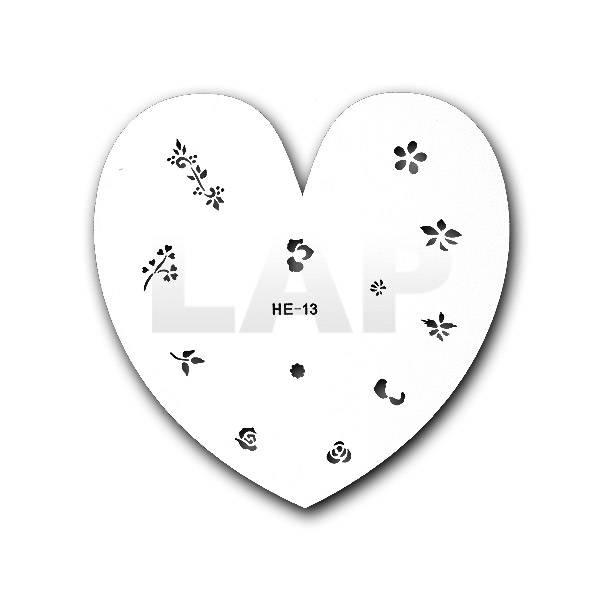 Airbrush Schmuck- & Nailschablone Nr. HE13 | aus Kunststoff/Mylar, abwaschbar, wiederverwendbar Bild 1