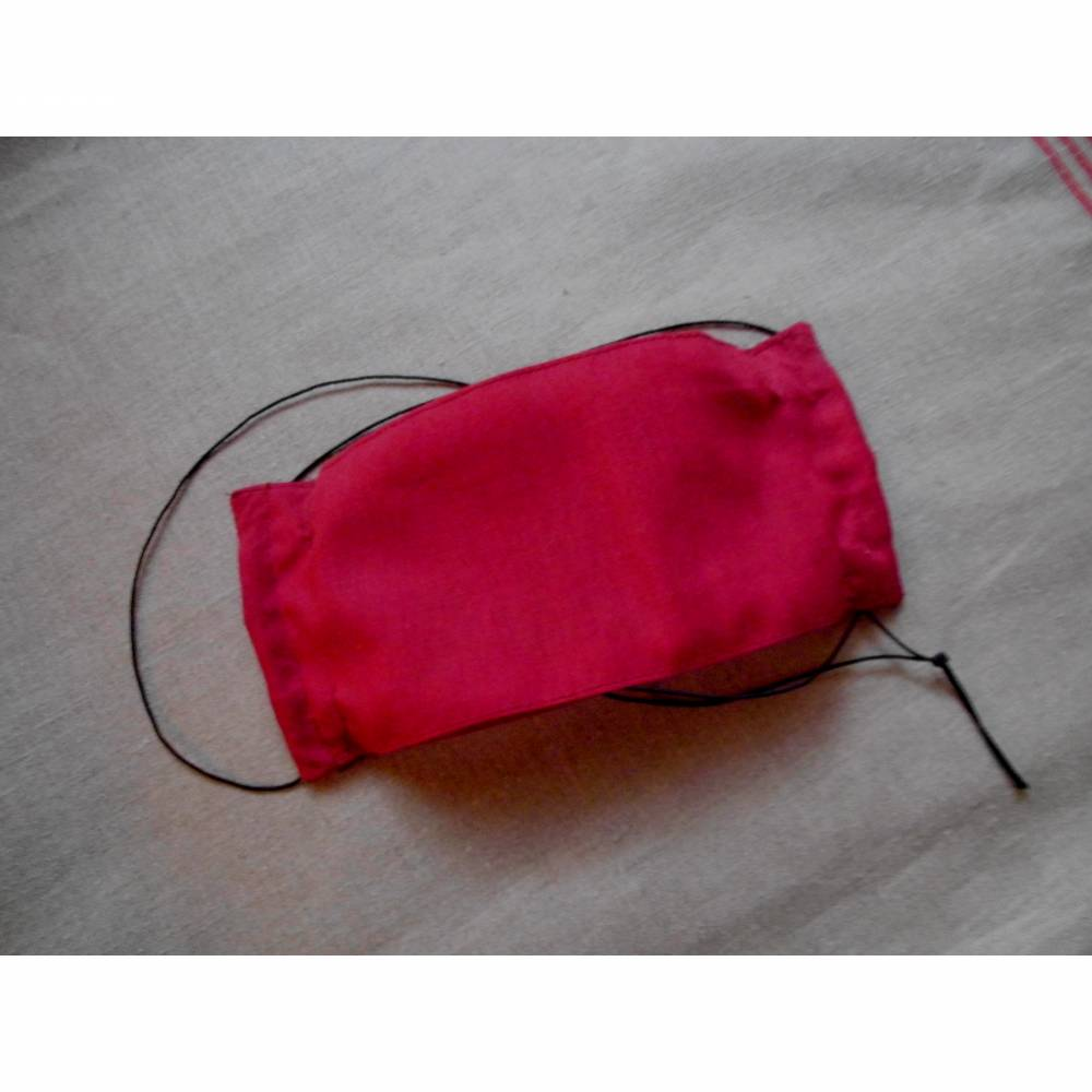 Sommermaske einlagig mit Nasenbügel und selbst verstellbarem Gummiband im Stil der Japanmasken Behelfsmaske Gesichtsmaske Baumwollmaske waschbar bei 60° Bild 1