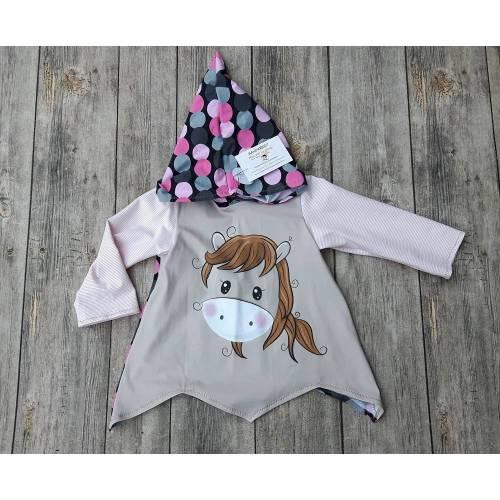 Zipfelpulli Kapuzenpullover Mädchen Größe 92 - mein kleines Pony - Panel