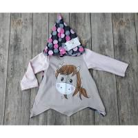 Zipfelpulli Kapuzenpullover Mädchen Größe 92 - mein kleines Pony - Panel Bild 1