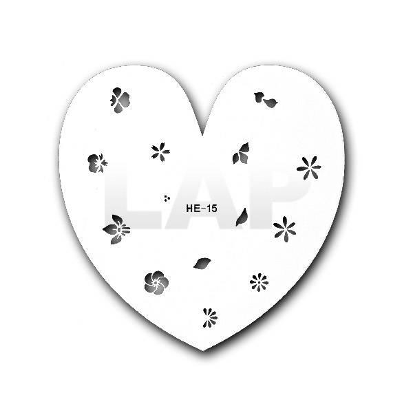 Airbrush Schmuck- & Nailschablone Nr. HE15 | aus Kunststoff/Mylar, abwaschbar, wiederverwendbar Bild 1