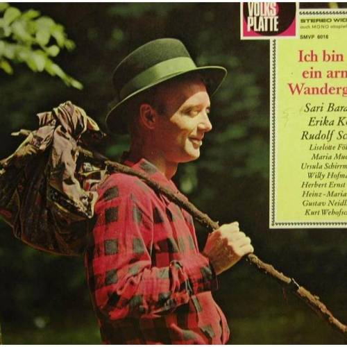 Vintage Schallplatte  -  Die Volksplatte, Ich bin nur ein armer Wandergesell.