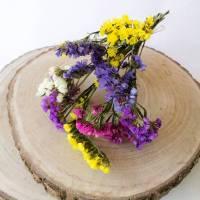 BIO Trockenblumen Limonium/ Statice als Blumenstrauß oder als Dekoration für Hochzeitstorten Bunt oder Uni (DEMETER) Bild 1