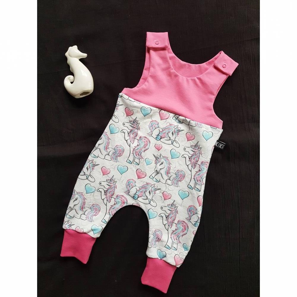 Einhorn Baby Strampler Pink Bild 1
